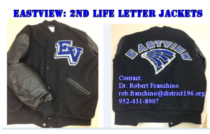 we are seeking previously used eastview letter jackets that are no longer worn to support 2ndlifeletterjackets